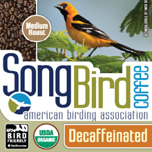 Thanksgiving Coffee Songbird Decaf - bird friendly, medium roast, organic, shade grown THUMBNAIL