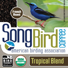 Thanksgiving Coffee Songbird French Roast -  bird friendly, dark roast, organic, shade grown THUMBNAIL
