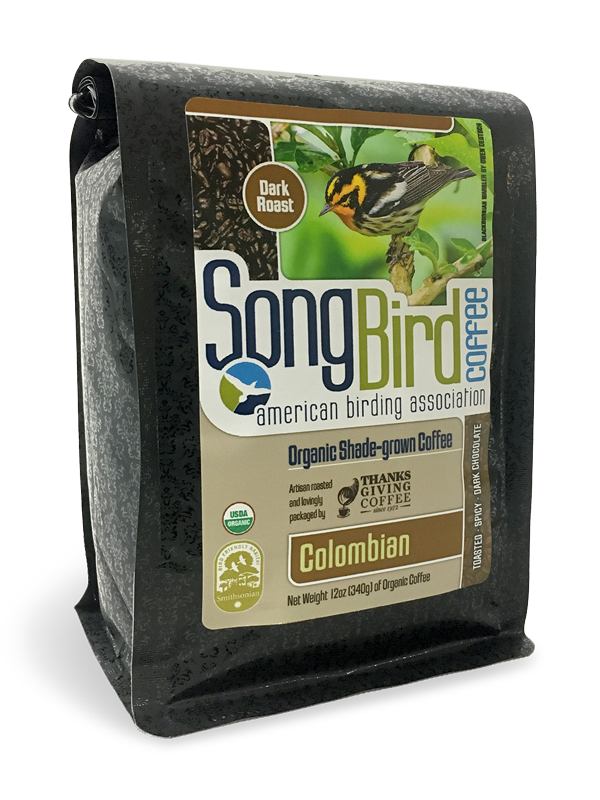 Thanksgiving Coffee Songbird Colombian - bird friendly, dark roast, organic, shade grown MAIN