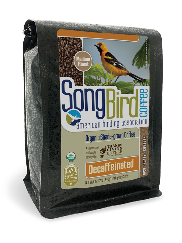 Thanksgiving Coffee Songbird Decaf - bird friendly, medium roast, organic, shade grown MAIN