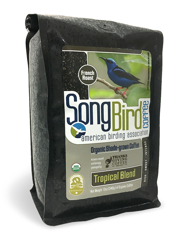 Thanksgiving Coffee Songbird French Roast -  bird friendly, dark roast, organic, shade grown MAIN