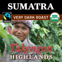 Thanksgiving Coffee Sumatra Very Dark Roast- organic, Fair Trade, single origin Sumatran coffee beans THUMBNAIL