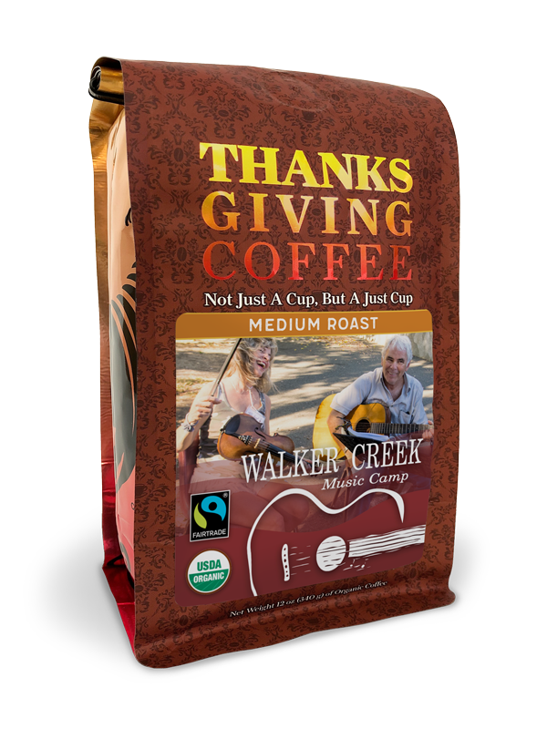 Thanksgiving Coffee Walker Creek Music Camp - medium roast, organic blend MAIN