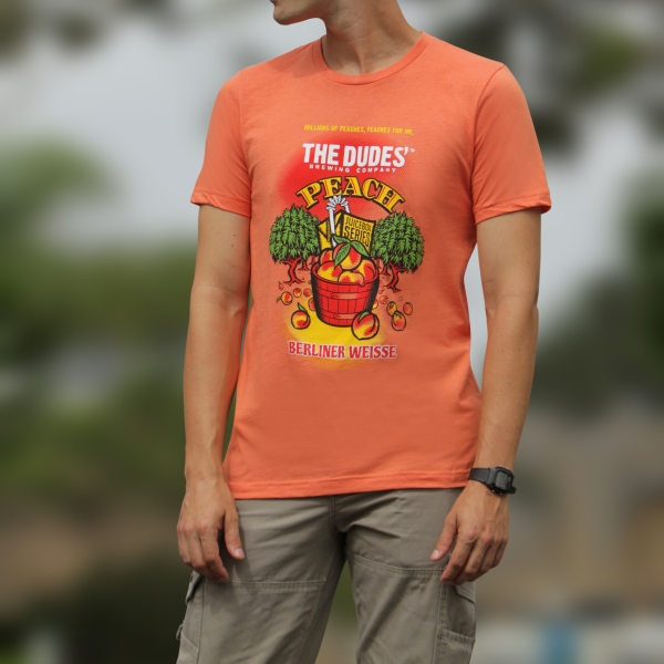 TShirt - JuiceBox Peach - Unisex Crew Neck - Peach SWATCH
