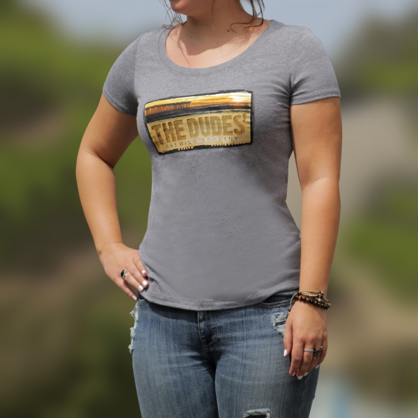 TShirt - Dudes' Logo - Women's Scoop Neck - Premium Heather_THUMBNAIL