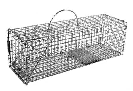 "Professional Chipmunk / Rat Galvanized Metal Live Animal Traps with 1/2"" x 1/2"" Wire Grid THUMBNAIL"