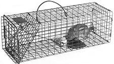 "Chipmunk / Rat Galvanized Metal Live Animal Traps with 1/2"" x 1"" Wire Grid THUMBNAIL"