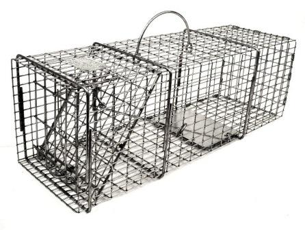 "Professional Squirrel /Muskrat/Opossum Galvanized Metal Live Animal Trap with 1/2"" x 1"" Wire Grid THUMBNAIL"