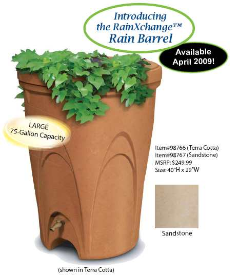 Aquascape RainXchange - 75 Gallon Rain Barrel (Terracotta & Sandstone Finish)