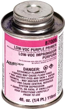 Aquascape Flexible PVC Pipe Purple Primer for Water Garden & Pond Pipe MAIN