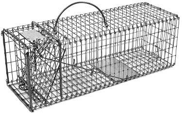 "Chipmunk / Rat Galvanized Metal Collapsible Live Animal Traps with 1/2"" x 1"" Wire Grid THUMBNAIL"