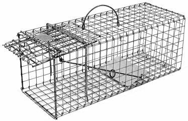 Skunk - Galvanized Metal Collapsible Live Animal Trap with 1 x 1 Wire Grid THUMBNAIL