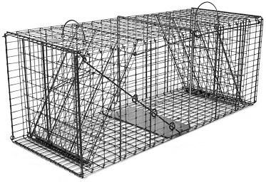 Bobcat / Fox / Rabbit Galvanized Metal Collapsible Double Door Live Animal Trap with 1 x 2 Grid