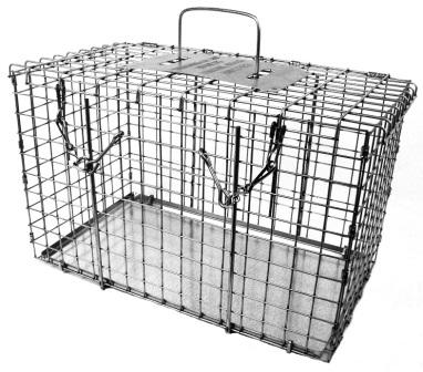 "Top Opening Animal Cage - Raccoon/Cat Size - (20""L x 11""W x 12""H)"