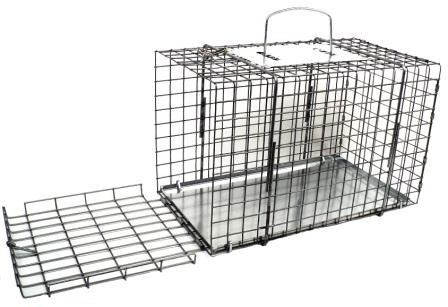 "End Opening Animal Cage - Rabbit/Opossum Size - (16""L x 9""W x 10""H)"