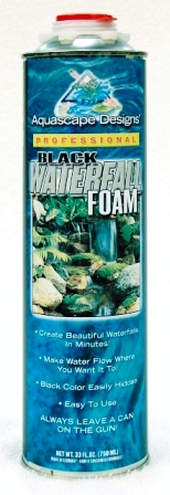 Aquascape Black Waterfall Foam & Accessories for Water Garden, Stream, & Pond Use_THUMBNAIL