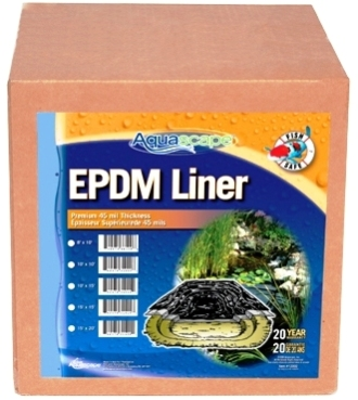Aquascape Fish Safe Flexible 45 Mil EPDM Boxed Water Garden, Stream, & Pond Liner MAIN