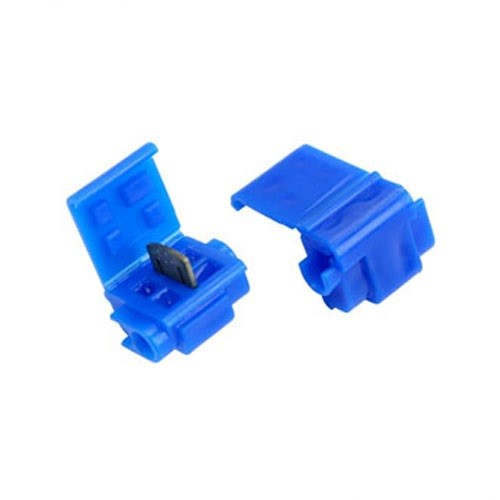 3M Run-Tap Moisture Resistant Solderless Connectors - Pair (2) of Blue Connectors with Silicone Gel_SWATCH