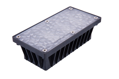 4 inch x 8 inch Solar Brick Paver and Landscape Lights for Walks, Patios, Driveways & Pool Decks