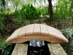 4' Span Hand Made Natural 100% Redwood Bridges For Gardens, Paths, & Ponds LARGE