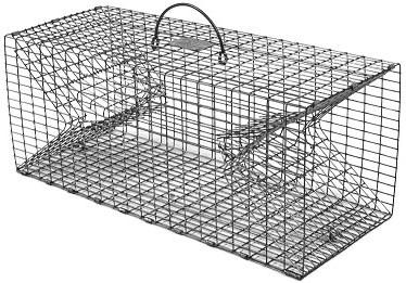 Double Door Crayfish Live Fish Trap with 1/2 x 1 Inch Grid