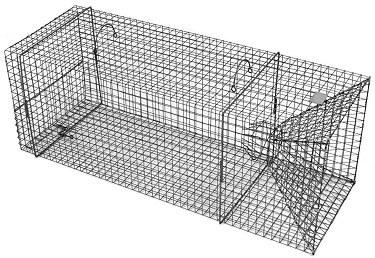 Single Door - Rigid XL Fish Live Trap with 1 x 1 Inch Grid & 5 Inch Throat
