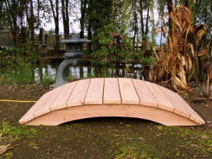 5' Span Hand Made Natural 100% Redwood Bridges For Gardens, Paths, & Ponds LARGE