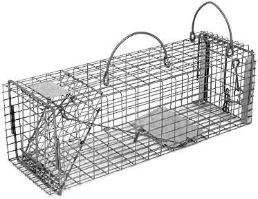 "Chipmunk / Rat Galvanized Metal Live Transfer Animal Traps with 1/2"" x 1"" Wire Grid THUMBNAIL"