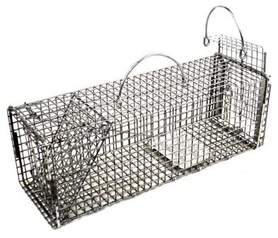 "Professional Chipmunk / Rat Galvanized Metal Live Transfer Animal Traps with 1/2"" x 1/2""  Wire Grid THUMBNAIL"