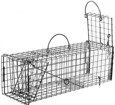 Squirrel / Muskrat Galvanized Metal Live Transfer Animal Trap with 1 x 1 Wire Grid THUMBNAIL