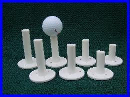 Economy Rubber Golf Ball Tees (8 Sizes Available) THUMBNAIL