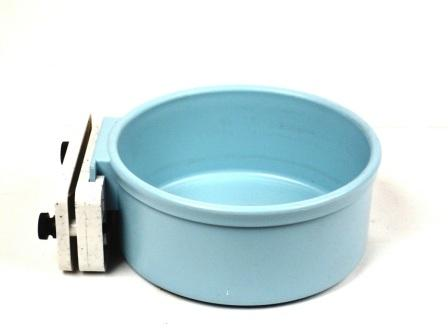 Plastic Cage 1 Quart Cup with Animal Cage Bar Mount - Slate Blue