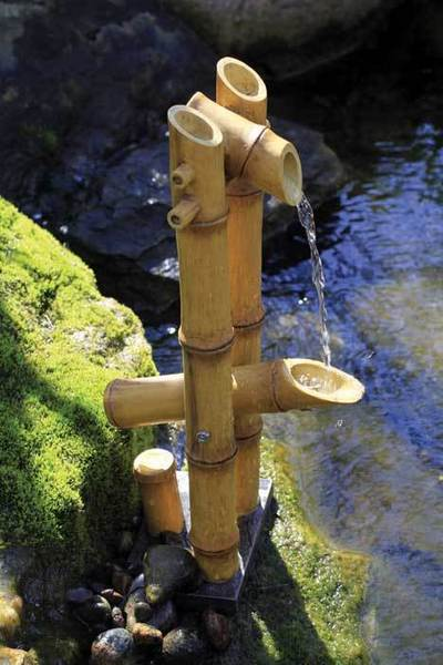 Deer Scarer Bamboo Fountain w/pump for Water Gardens & Ponds THUMBNAIL