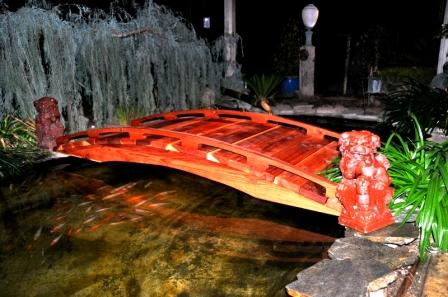 Japanese Style 100% Redwood Garden Bridges