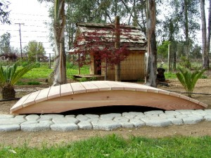 8' Span Hand Made Natural 100% Redwood Bridges For Gardens, Paths, & Ponds LARGE