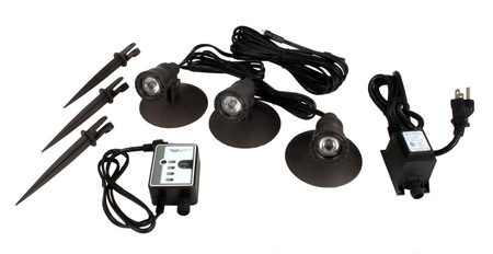1-Watt Pond Fountain, and Landscape LED 3-Light Kit (G2) by Aquascape- 5 year Warranty