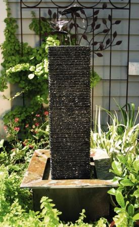 Aquascape Self Contained Slate Lily Column Fountain
