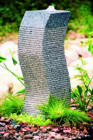 Aquascape - Carved Granite Stone S-Curve Fountain for Custom Water Features