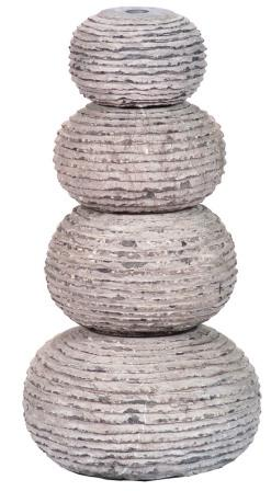 Aquascape - Carved Stone Stacked Balls Fountain for Custom Water Features