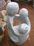 Aquascape - Carved & Polished Natural Stone Trio Holding Hands Fountain for Custom Water Features Mini-Thumbnail