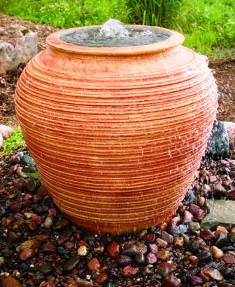 Aquascape Ceramic - Rain Urn Bubblers for Gardens & Displays