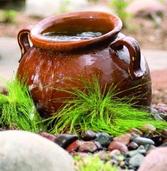 Aquascape Ceramic - Slanting Jar Bubbler for Gardens & Displays