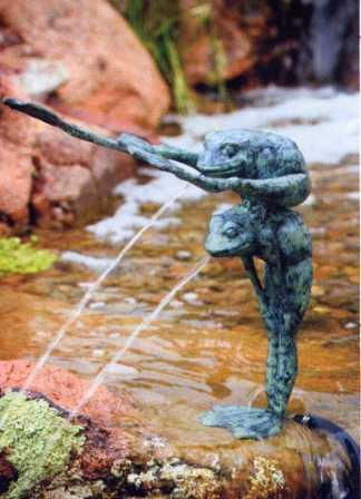 Aquascape Brass - Piggy Back Crazy Legs Spitter / Fountain for Water Gardens & Ponds