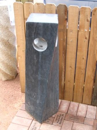 Aquascape - Natural Polished Twisted Stone Column Fountain for Custom Water Features LARGE