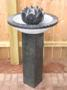 Aquascape - Natural Black Stone Bird Bath & Flower Fountain for Custom Water Features SWATCH