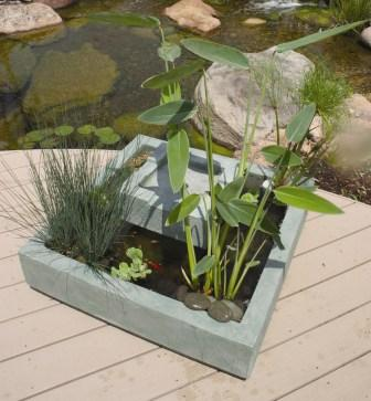 Green Slate Square Deck Pond by Aquascape