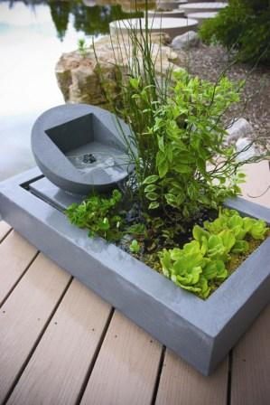 Weathered Concrete Rectangle Deck Pond by Aquascape