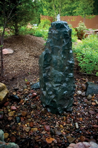 Fractured Basalt Column Stone Fountain for Custom Water Features MAIN