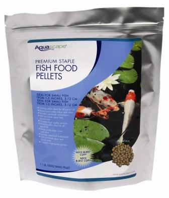 Premium Staple Fish Food Pellets by Aquascape