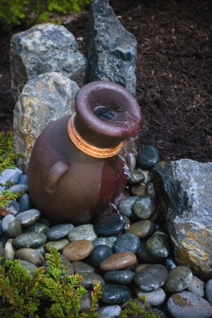 Leaning Vase Fountain  - Aquascape Fiberglass Stone Composite